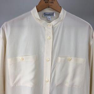 Vintage Silk Crepe de Chine Tunic